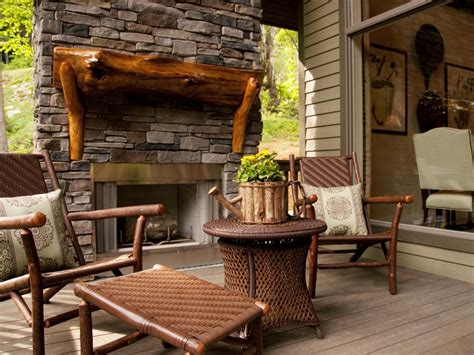 diy blog cabin 2010 front porch top to bottom detailing blog cabin charming outdoor spaces diy network blog