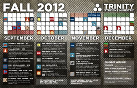 Youth Ministry Calendar Template by Free Youth Calendar Template Fall 2013 Ministry