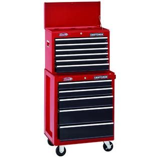 craftsman 26 inch 6 drawer tool chest craftsman 26 quot wide 6 drawer ball bearing top chest red black
