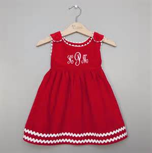 girls monogrammed dresses christmas for girls