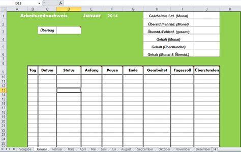 Tabellenvorlage Word Arbeitszeitnachweis Vorlage Mit Excel Erstellen Office Lernen Seite 2 4
