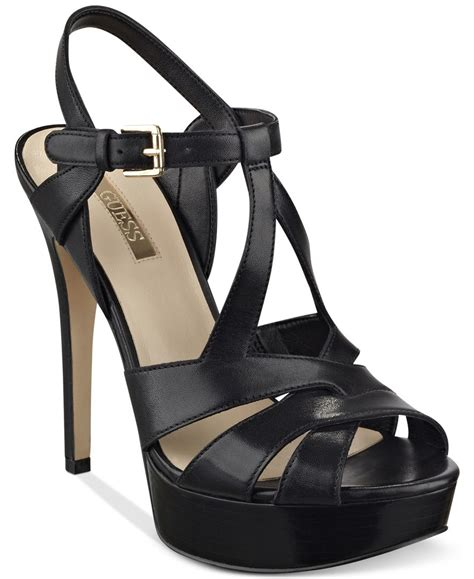 Dress Heels Guess guess s kymma strappy platform dress sandals in