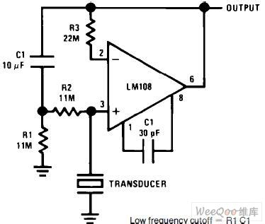 piezoelectric sensor circuit diagram piezoelectric transducer of lifier circuit lifier