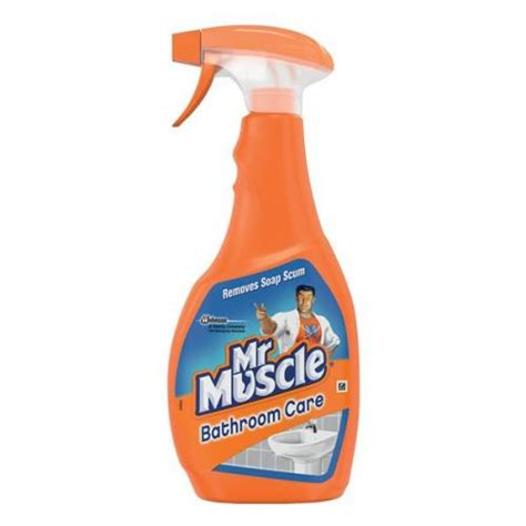 mr muscle toilet and bathroom cleaner mr muscle 500ml 5 in 1 bathroom and toilet cleaner spray 97992