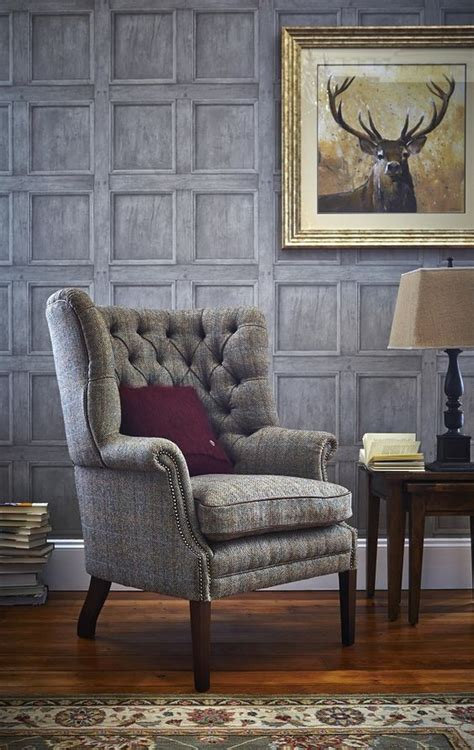 traditional armchairs for living room traditional living rooms harris tweed wingback armchair