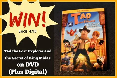 tad the lost explorer and the secret of king midas giveaway archives