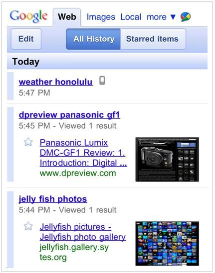 S Search History New Mobile Search History Android Central