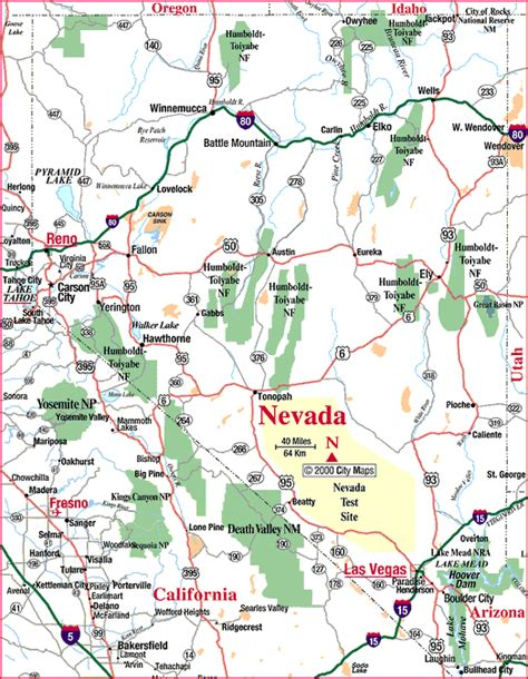 nevada state maps nevada tourist attractions in the map map of nevada