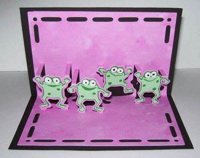 Frog Pop Up Card Template by Cool Frog Pop Up Pattern Origami Kirigami Quilling