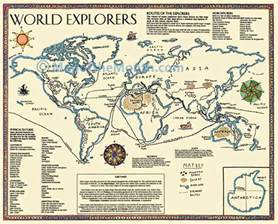 European Exploration Of The New World Essay by World Explorers Map Maps For The Classroom