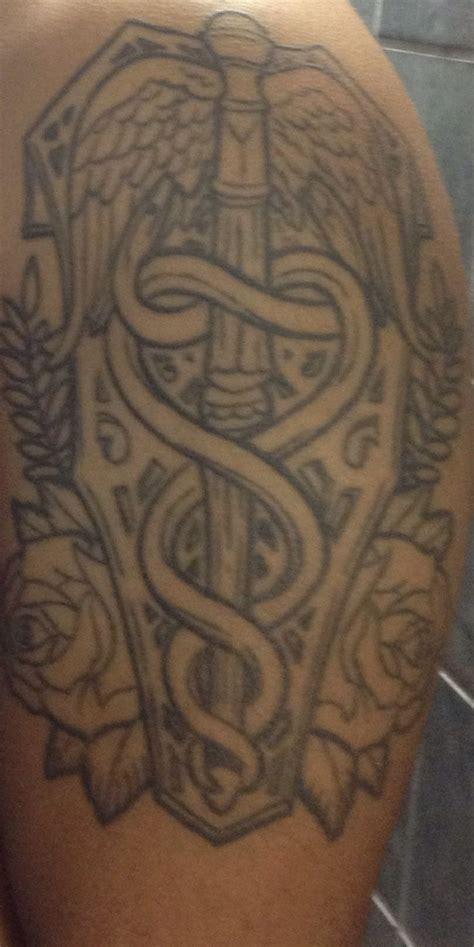 navy corpsman tattoo caduece hospital corpsman motto g t l