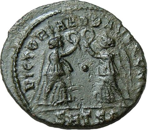 Wreaths Of Empire constans ae two victories holding wreath smts authentic