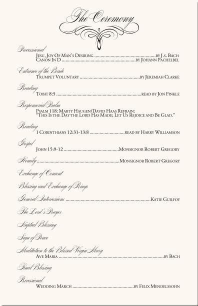 catholic wedding mass order flourish mongram catholic mass wedding ceremony catholic wedding