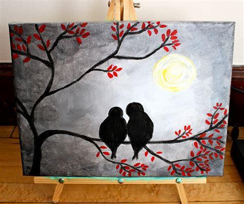acrylic painting on canvas birds bird painting acrylic original acrylic painting on that