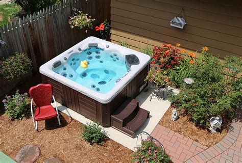 hot tub ideas backyard backyard ideas for hot tubs and swim spas