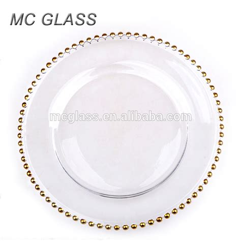 gold beaded charger plates wholesale cheap wholesale wedding gold silver glass beaded charger