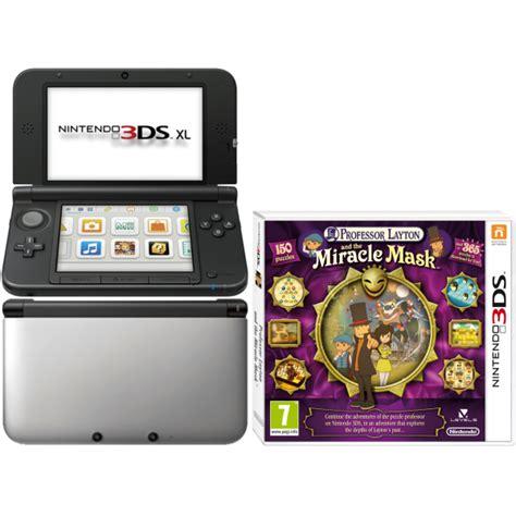 nintendo 3ds xl console sale nintendo 3ds xl console silver and black bundle includes