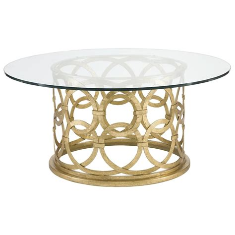Gold Metal Coffee Table by Antonia Regency Gold Metal Coffee Table