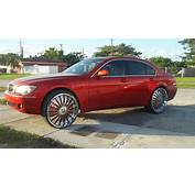 Rides Bmw 7 Series Red Dub Sveet Floaters 26 Inch