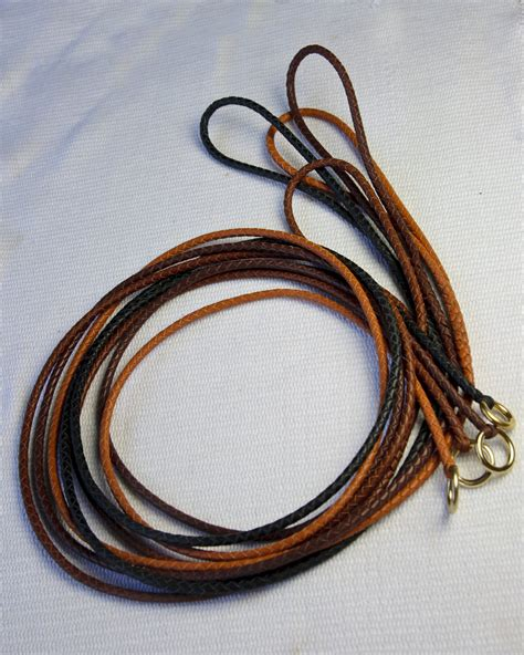 show leads custom slip lead kangaroo leather show braided slip lead for your best in show