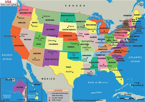united states map and capitals united states map with capitals us states and capitals map