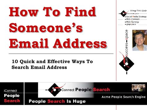 How To Search Someone By Email How To Find Someone S Email Address 10 Simple And Productive Soluti