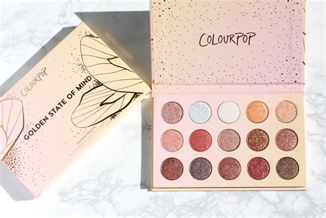 Colourpop Golden State Of Mind Pressed Shadow Palette 2017 colourpop golden state of mind shadow palette collective