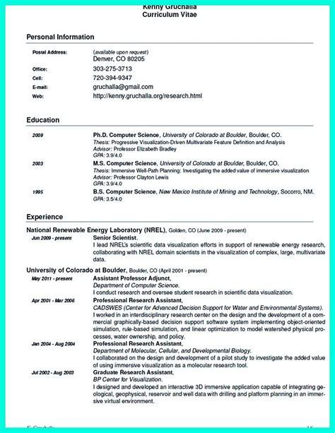 Chemist Resume Sle
