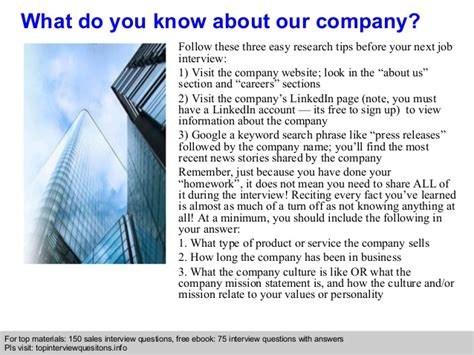 letter for sales interview questions and answers free and collection