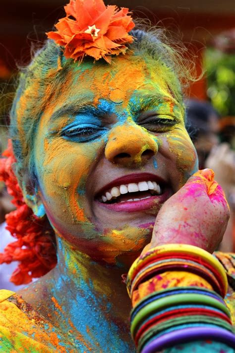 festival of colors india indian hindus celebrate the festival of colors or holi in