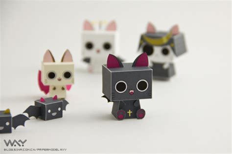 Papercraft Viewer - cats de wxy paper fr