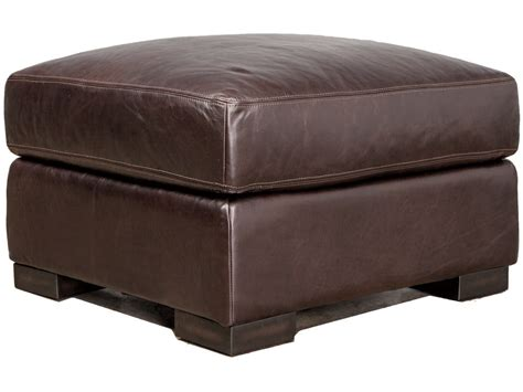 leather top ottoman braxton leather ottoman brompton tobacco top grain leather