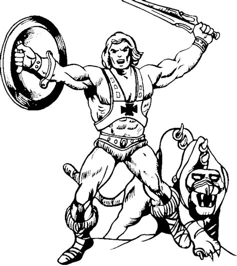 he man coloring pages sketch coloring page