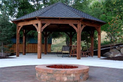 pit gazebo plans 55 best backyard retreats with pits chimineas