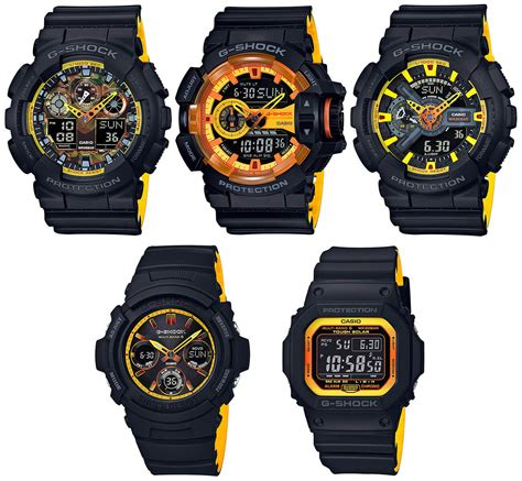 G Shock Series Black g shock black and yellow accent sport series g central g