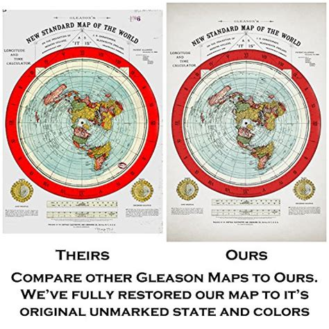 standard map flat earth map gleason s 1894 new standard map of the