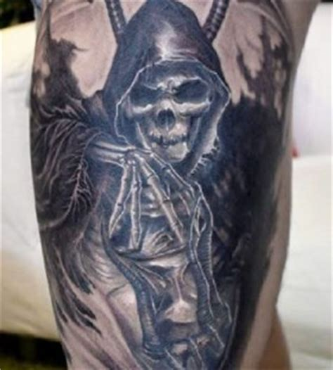 spectacular gruesome creepy and awesome grim reaper tattoos