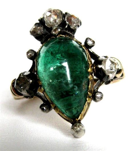 georgian emerald ring for sale antiques