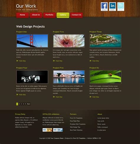 portfolio site templates the best free portfolio website templates evohosting