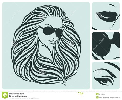 long hair stock photos royalty free images vectors long hairstyle vector illustration stock vector image