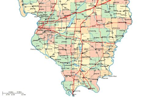 southern illinois map with cities