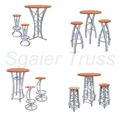 high top cocktail tables aluminum truss bar furniture