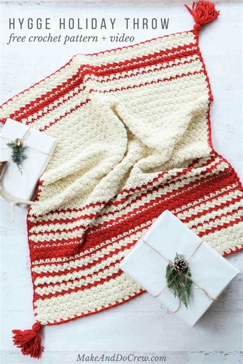the hygge holiday the hygge beginner crochet blanket free pattern video tutorial
