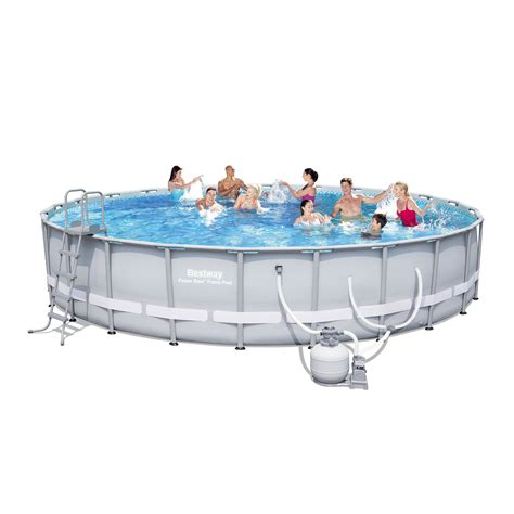 bestway power steel frame pool set 24 feet x 52 inches