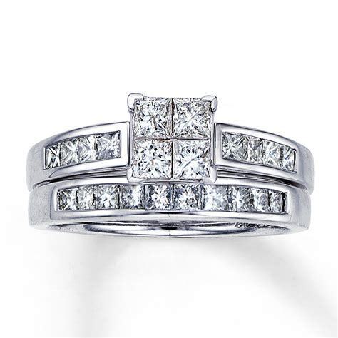princess cut engagement ring sets diamondstud