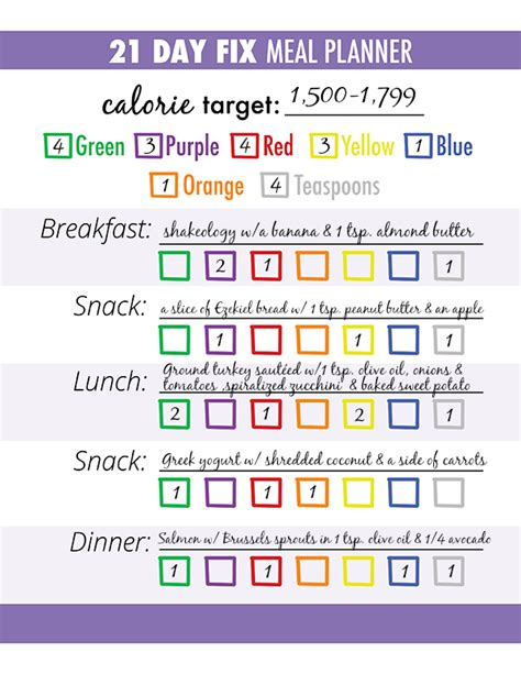 blank meal plan 21 day fix 3 steps for successful 21 day fix meal planning meals