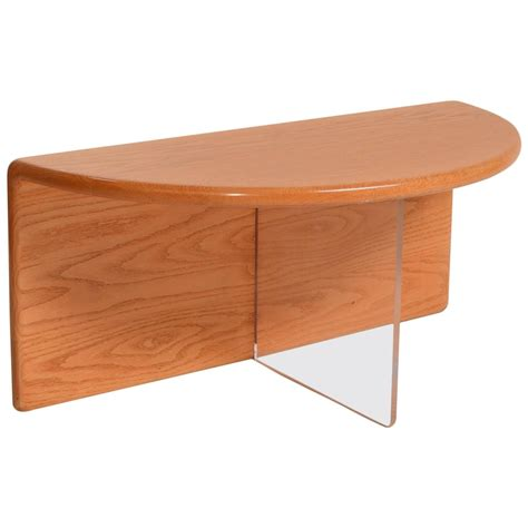 gerald mccabe oak and lucite coffee table for sale at 1stdibs