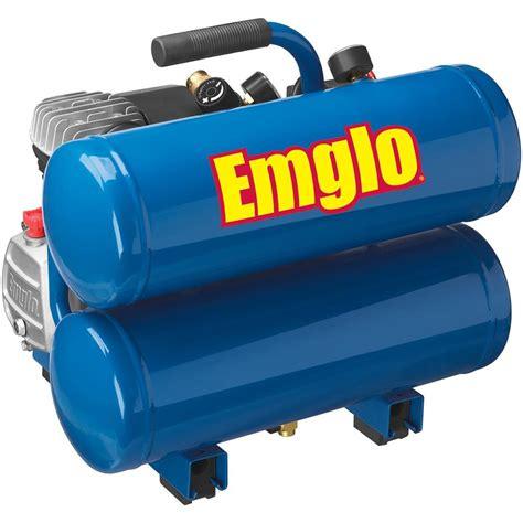 emglo e810 4v 4 gallon heavy duty lube stacked tank air compressor