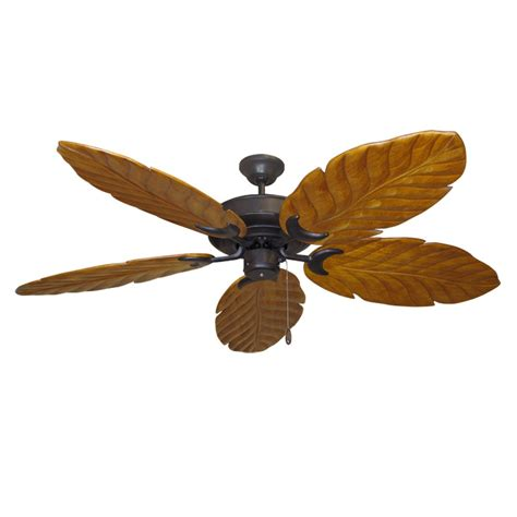 Leaf Ceiling Fan Blades by Rubbed Bronze Raindance 100 Series Ceiling Fan Real