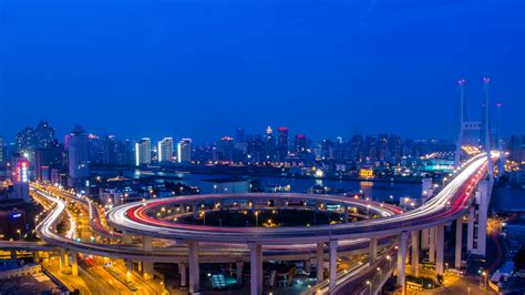 Download 1920x1080 HD Wallpaper shanghai highway bridge